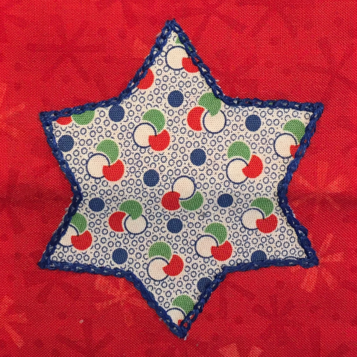 Close up of just the star on the bag